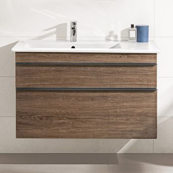 Villeroy and Boch Venticello Asymmetrical XXL 2 Drawer Vanity