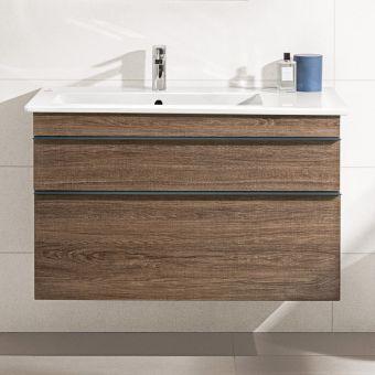 Villeroy and Boch Venticello Asymmetrical XXL 2 Drawer Vanity - 4134R101