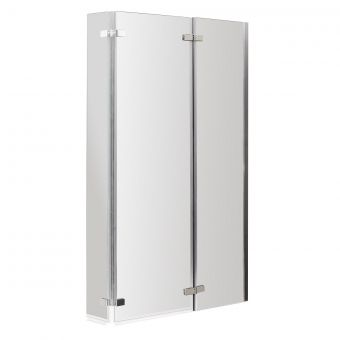 UK Bathrooms Essentials Double Hinged Bath Screen