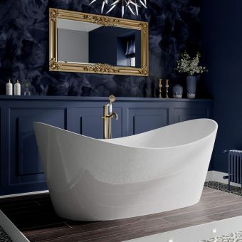 Trojan Emerald Double Ended Freestanding Slipper Bath