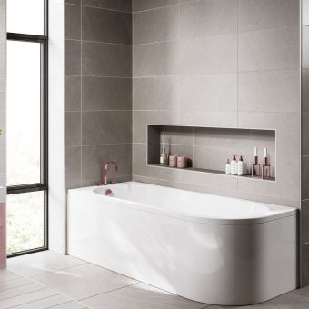UK Bathrooms Essentials Freesia Single Ended Bath