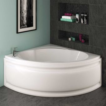 UK Bathrooms Essentials Cosmos Corner Bath