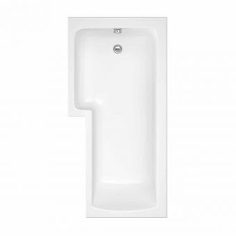 UK Bathrooms Essentials Buttercup Shower Bath