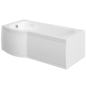 UK Bathrooms Essentials Carnation Shower Bath