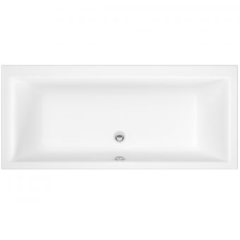 UK Bathrooms Essentials Clematis Double Ended Bath - UKBESB00035