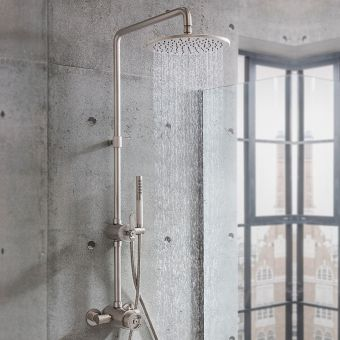 Crosswater Union Brushed Nickel Shower Set