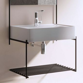VitrA Equal Basin with Black Shelf