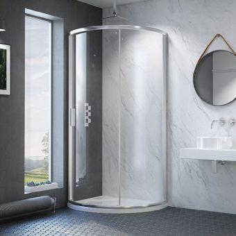 Kudos Original6 Offset Quadrant Sliding Shower Door - 606015