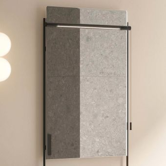 VitrA Equal Illuminated Black Framed Mirror