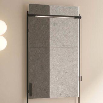 VitrA Equal Illuminated Black Framed Mirror - 64104