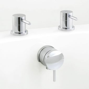 UK Bathrooms Essentials Conroy Freeflow Bath Filler with Handles