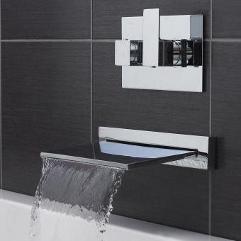 UK Bathrooms Essentials Dali Waterfall Bath Filler - UKBEST00046