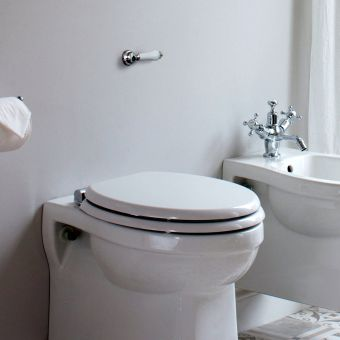 Burlington Concealed Toilet Cistern with Traditional Lever