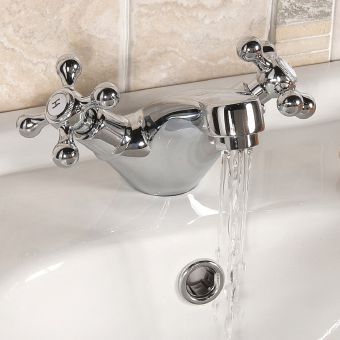 UK Bathrooms Essentials Spence Traditional Basin Mixer Tap