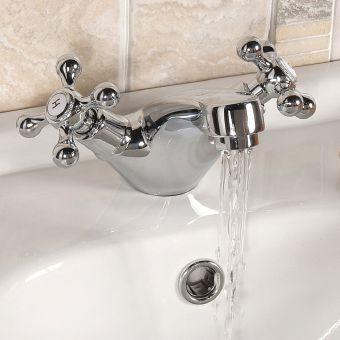 UK Bathrooms Essentials Spence Traditional Basin Mixer Tap - UKBEST00053