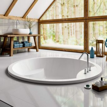 Trojan Oasis Round Inset Double Ended Luxury Bath