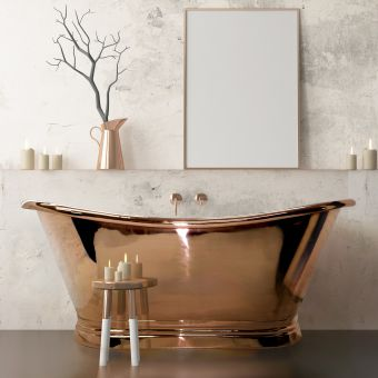 BC Designs Copper Boat Double Ended Bath
