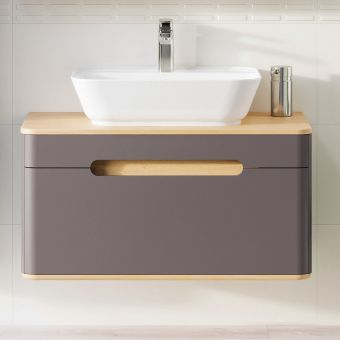 VitrA Sento 1 Drawer Large Vanity Unit for Washbowls