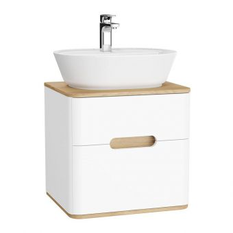 VitrA Sento 2 Drawer Small Vanity Unit for Washbowls - 62364