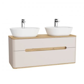 VitrA Sento 2 Drawer Double Vanity Unit for Washbowls