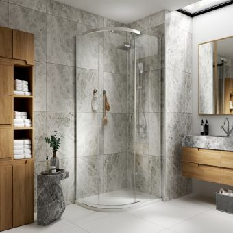 Kudos Pinnacle 8 Offset Quadrant 1200mm x 900mm Shower Enclosure