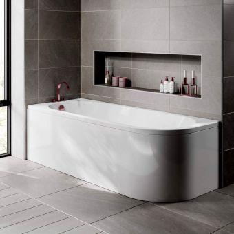 Trojan J Shaped Single Ended Bath
