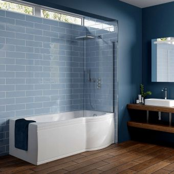 Trojan Concert P Shaped Shower Bath