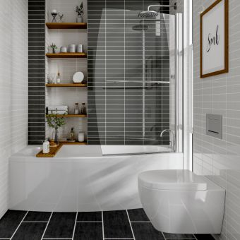 Trojan Space Saver Single Ended Bath