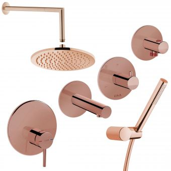 VitrA Origin Copper 3 Way Shower Kit