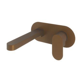 Abacus Ki Brushed Bronze Wall Mounted Basin Mixer Tap - TBTS-058-1602