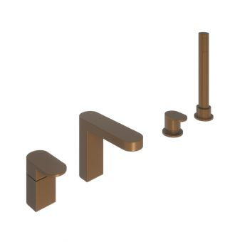 Abacus Ki Brushed Bronze Deck Mounted Bath Shower 4TH