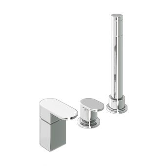 Abacus Ki Chrome Deck Mounted Bath Shower 3TH
