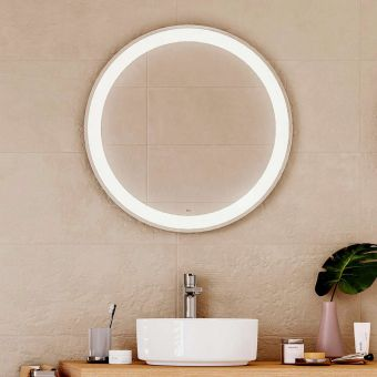 Roca Iridia Round Mirror with Perimetral LED Lighting and Demister