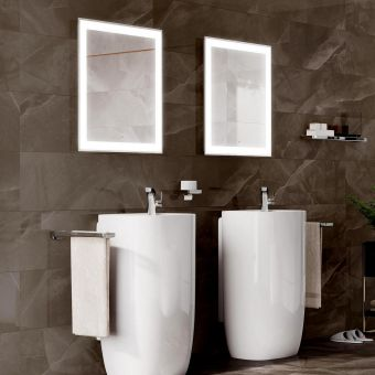 Roca Iridia Rectangular Mirror with Perimetral LED Lighting and Demister