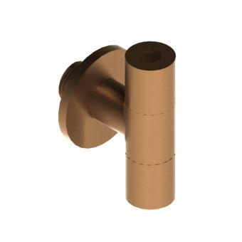 Brushed Bronze Designer Angled Isolation Valve - EPAC-05-2820