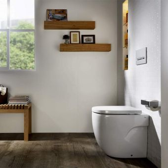 Roca Meridian-N Compact Rimless Back to Wall Toilet