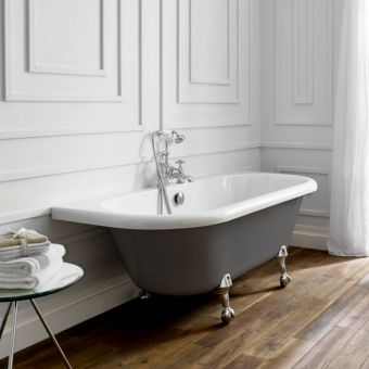 April Kildwick Back-to-wall Freestanding Bath
