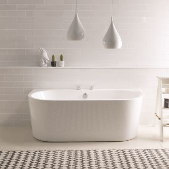BC Designs Ancora Back-to-Wall Double Ended Acrymite Bath