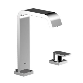 Roca Flat 2 Hole Basin Mixer with Pop Up Waste