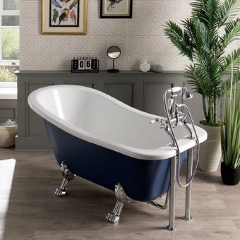 BC Designs Fordham Freestanding Acrylic Slipper Bath