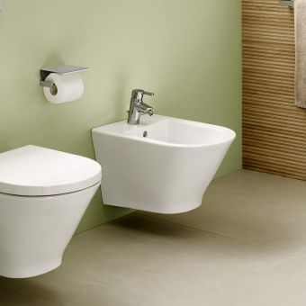 Roca Malva Bidet Mixer Tap with Pop up Waste