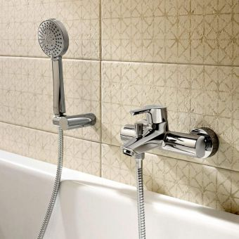 Roca Malva Wall Mounted Bath Shower Mixer Tap