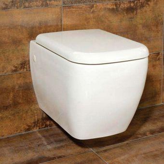 RAK Metropolitan Wall Hung Toilet with Seat - METWHPAN/SC