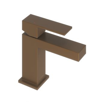 Abacus Plan Brushed Bronze Mini Mono Basin Mixer