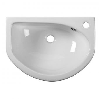 Tavistock Micra Slim Depth Semi-Countertop Basin