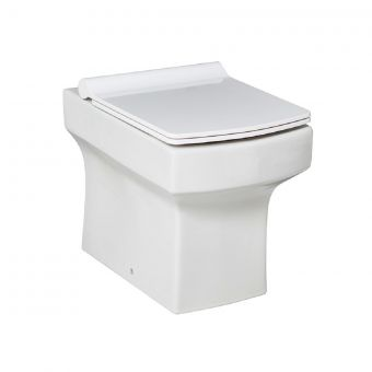 UK Bathrooms Essentials Claro Back to Wall Toilet Suite