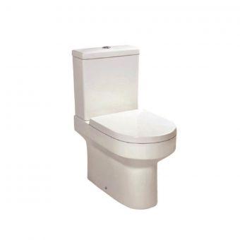 UK Bathrooms Essentials Bellman Open Back Close Coupled Toilet Suite - UKBESA0016