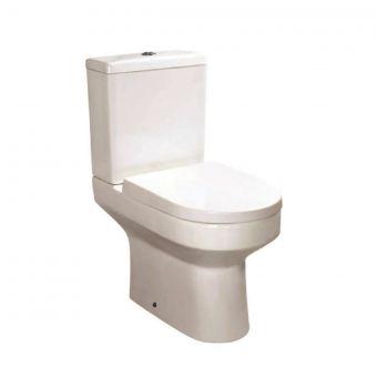 UK Bathrooms Essentials Bellman Comfort Height Open Back Close Coupled Toilet Suite - UKBESA0017