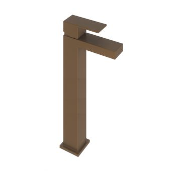 Abacus Plan Brushed Bronze Tall Mono Basin Mixer