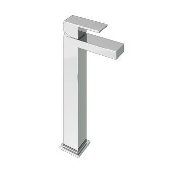 Abacus Plan Chrome Tall Mono Basin Mixer Tap - TBTS-26-1402